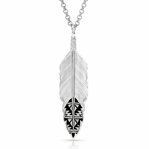 Sedona Ranch Feather Necklace by Montana Silversmiths NC4586