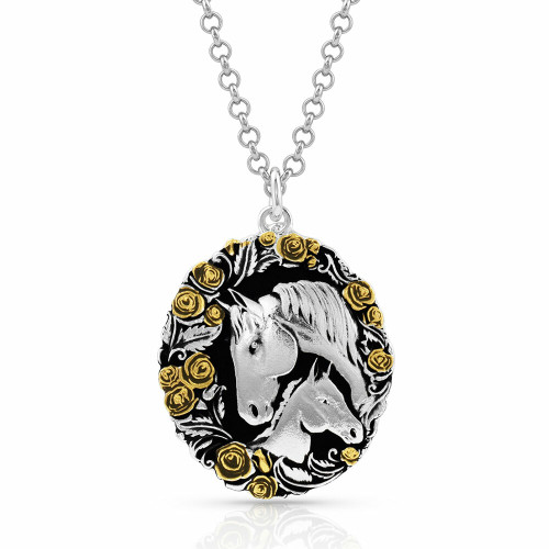 Winner's Circle Horse Necklace by Montana Silversmiths NC4688