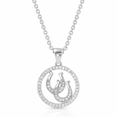 Lucky Horseshoe Pendant Necklace by Montana Silversmiths NC4731