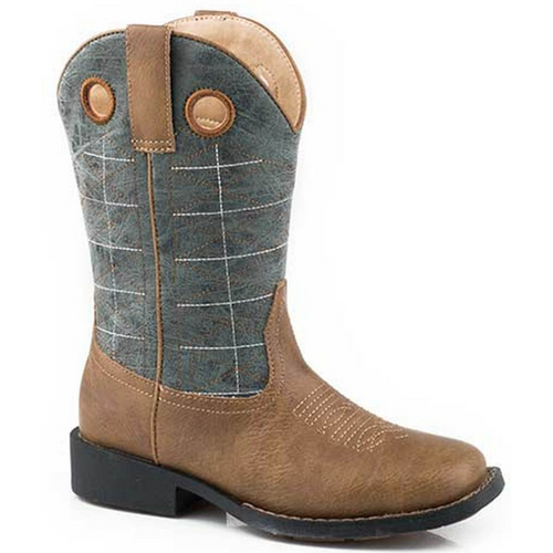 Children's and Toddler's Vintage Blue Shaft Boot By Roper 09-018-0191-9522 BR