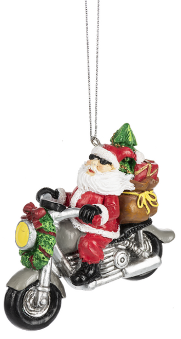Santa's Ride With Gifts Ornament By Ganz EX29933-1