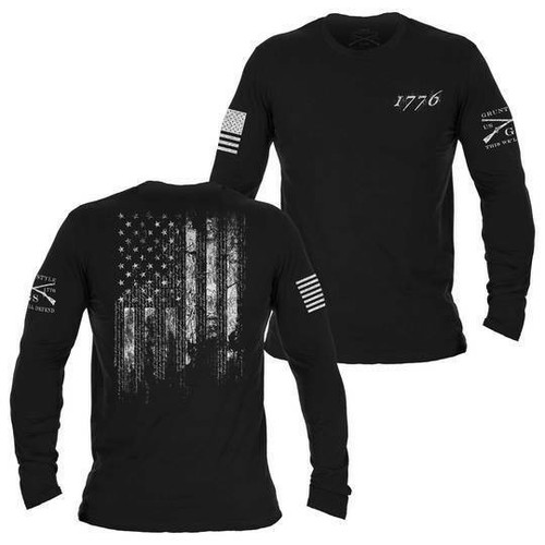 1776 Flag Long Sleeve Shirt by Grunt Style GS3164