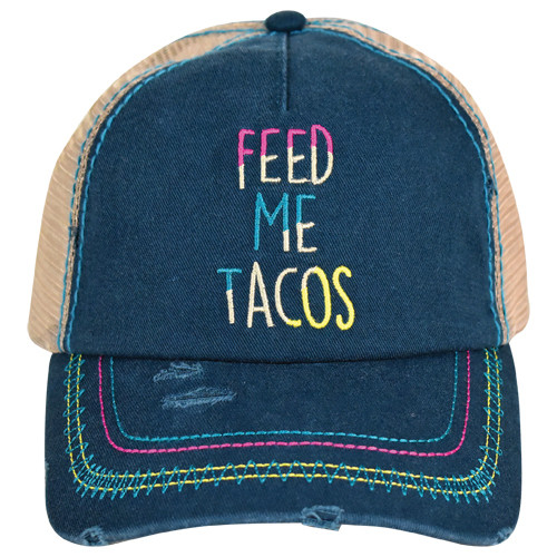 Women's Catchfly Feed Me Tacos Baseball Cap by Trenditions 2077HB2