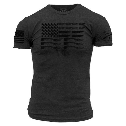 Ammo Flag Grey T-Shirt By Grunt GS565