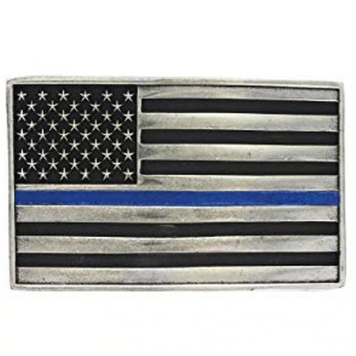 Thin Blue Line Buckle by Montana Silversmiths A644TBL