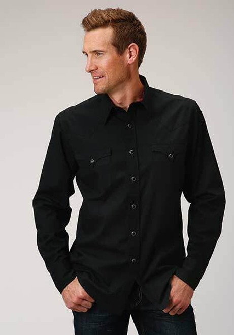 Men's Long Sleeve Western Performance Shirt by Roper 03-001-0060-0709 BL