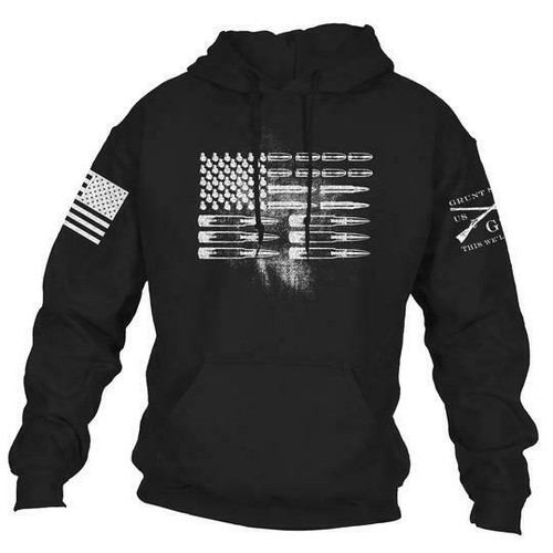 Ammo Flag Hoodie - Black by Grunt Style GS3595