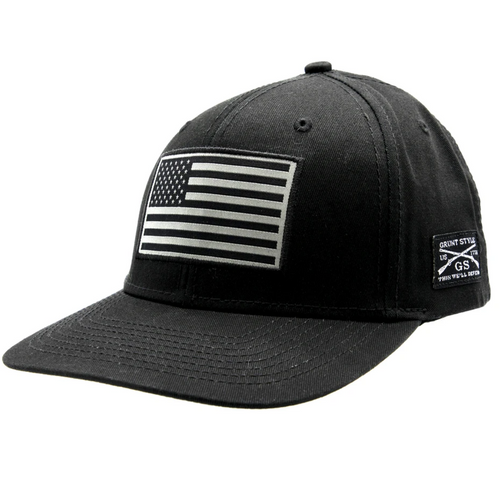 American Flag Hat - Black by Grunt Style GS3690
