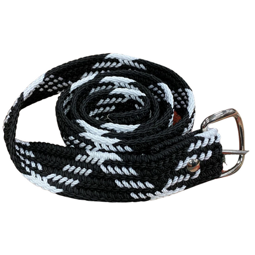 Machine Woven Braided Belt - Black and White by M&F Western 2000605