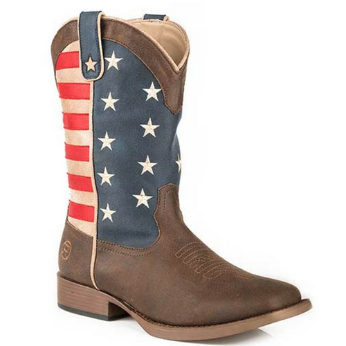 American Patriot Cowboy Boot for Toddlers 09-017-1902-0380 BR