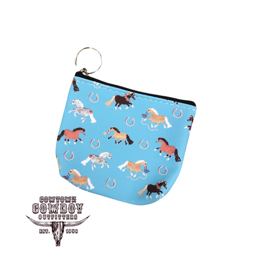 Puff Pony Key Chain Coin Purse Wallet by AWST GG623-B