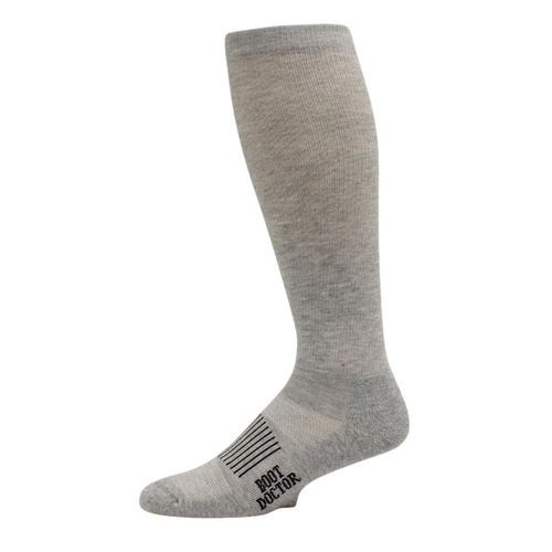 Boot Doctor Over the Calf Half Cushion Grey Sock 2 Pack 0412006