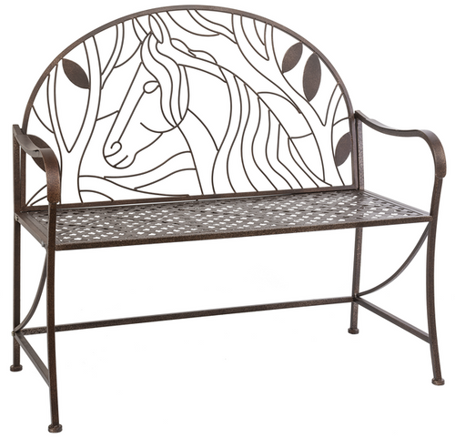 Metal Horse Bench CB173586 by Ganz