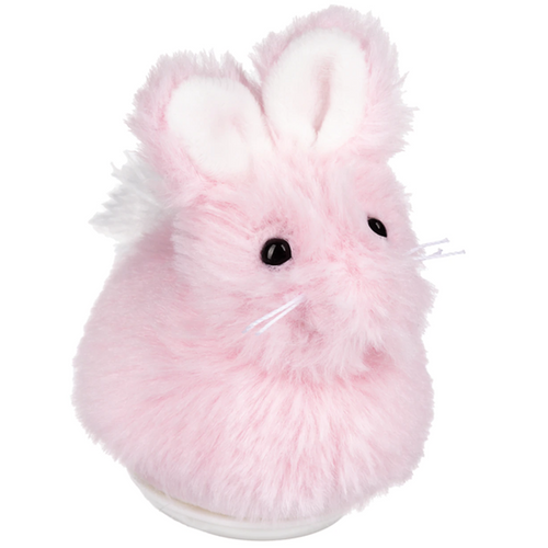 Pink Stuffed Sweet Chittering Bunny By Ganz HE10397