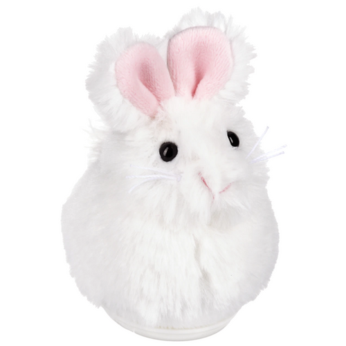White Stuffed Sweet Chittering Bunny By Ganz HE10397-1