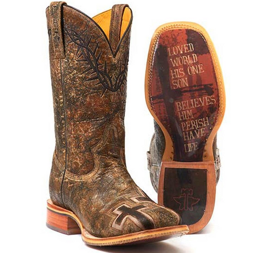 Men's Crown Of Thorns Tin Haul Wide Square Boot 14-020-0007-0301 BR