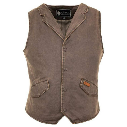 Men's Brown Arkansas Vest By Outback Trading Company 2835