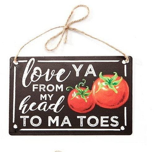 Decorative Love You From My Head To Ma Toes Metal Sign 715404-1