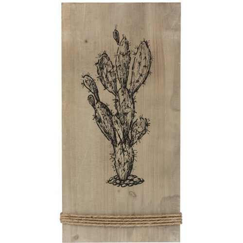 Prickly Pear Wall Wood Plaque ME178229-1