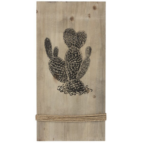 Desert Cactus Wall Wood Plaque ME178229-2