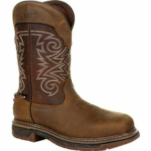 Men's Iron Skull 600G Waterproof Insulated Composite Toe Western Boot By Rocky Brands RKW0314