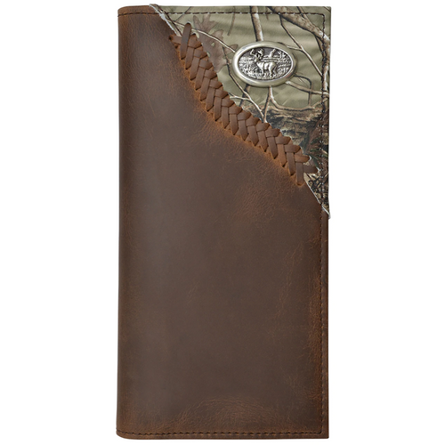 Badger Leather Rodeo Wallet With Realtree and Concho DBW576