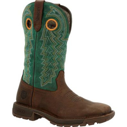 Women's Brown/Teal Legacy Western Boot By Rocky Brands RKW0342