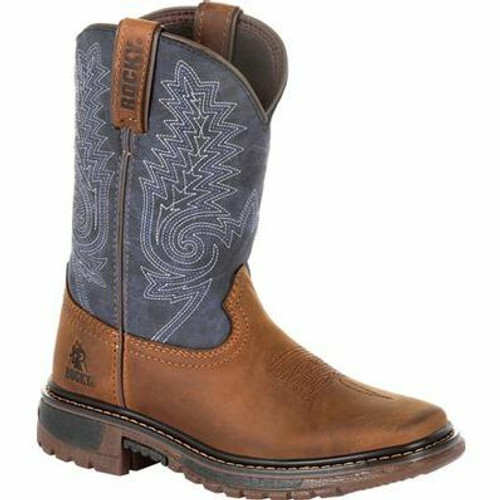 Kid's Ride FLX Western Boot By Rocky Brands RKW0255C