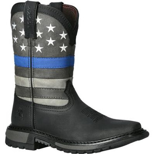 Big Kid's Blue Line Western Boot By Rocky Brands RKD0081Y