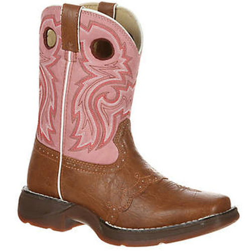 Lil' Kid Tan Lacey Western Boot By Durango BT287