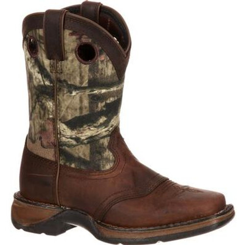 Lil' Durango Big Kid Camo Saddle Western Boot DBT0121