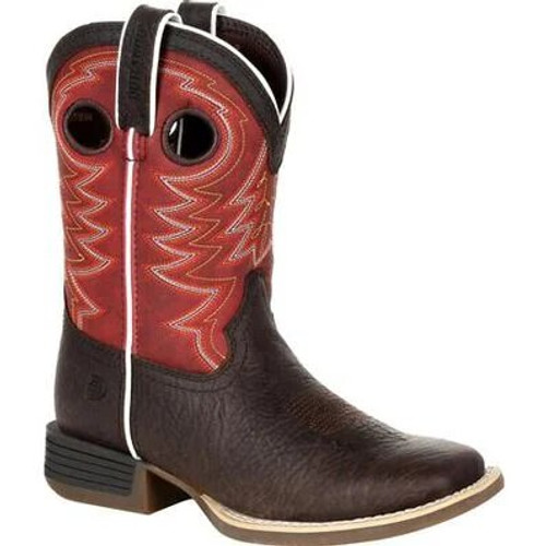 Durango Lil' Rebel Pro Big Kid's Red Western Boot DBT0220Y