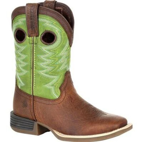 Durango Lil Rebel Pro Little Kid's Lime Western Boot DBT0221C
