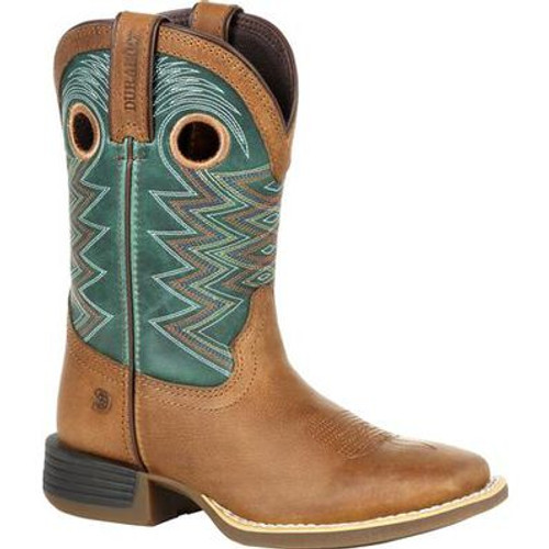 Durango Lil' Rebel Pro Little Kid's Teal Western Boot DBT0224C