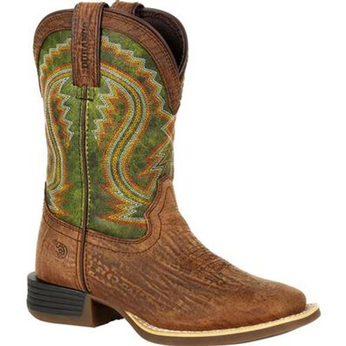 Durango Lil' Rebel Pro Little Kid's Briar Green Western Boots DBT0229C