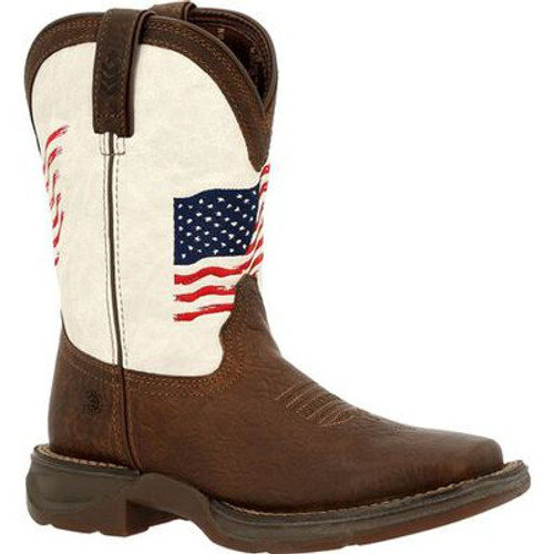 Lil'  Durango Rebel Distressed Flag Western Boots for Little Kids DBT0234C