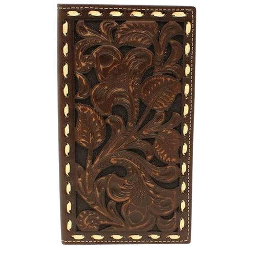 Men's Floral Embossed Buckstitch Rodeo Wallet A3538202