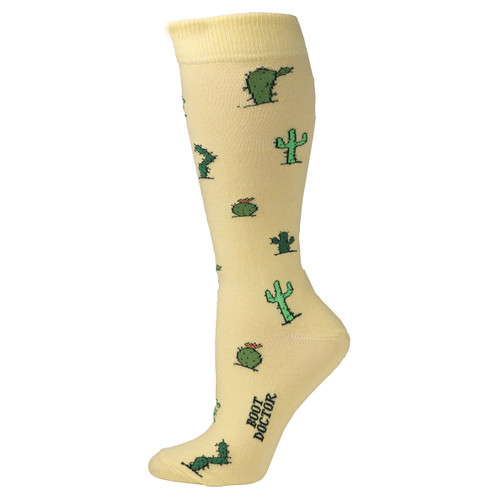 Yellow Cactus Crew Socks by Boot Doctor 0417318
