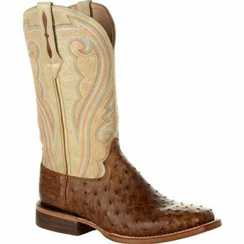 Durango Premium Exotic Full Quill Ostrich Sunset Wheat Western Boot DRD0388