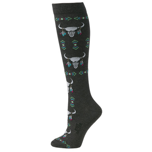 Skulls Boot Doctor Crew Socks for Women by M&F Western 0417006
