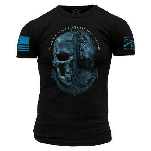 USN - The Enemy is Ours T-Shirt by Grunt Style GSNV0032