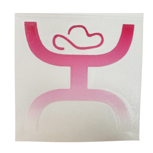 Hooey Logo Pink Ombre Sticker Decal ST1002PK-01