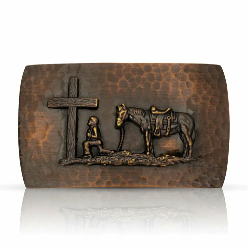 Cascade Buckle with Praying Cowboy by Montana Silversmiths 40410CBB-731
