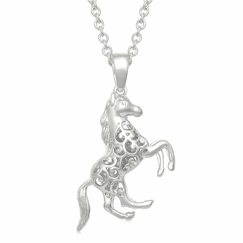 Horse Charm Necklace by Montana Silversmiths NC4767