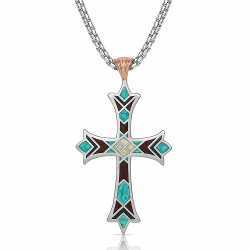 American Legends Embracing Faith Cross Necklace By Montana Silversmiths NC4820