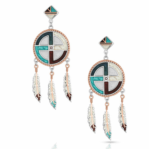 Legends Dreams Dreamcatcher Earrings by Montana Silversmiths ER4821