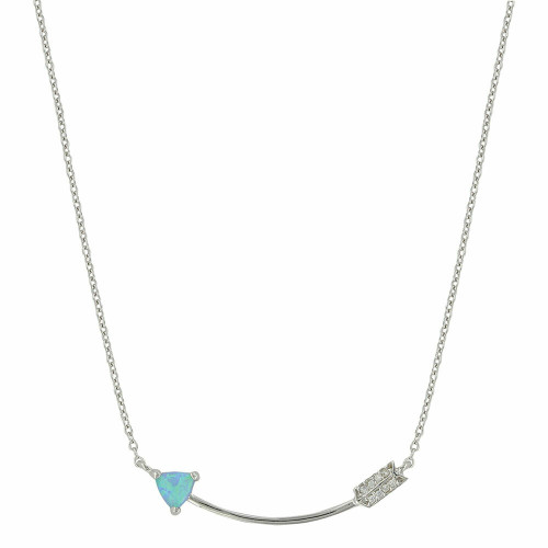 My Direction Arrow Opal Necklace By Montana Silversmiths NC3858
