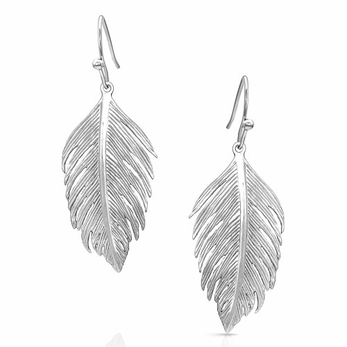 Light Feather Earrings by Montana Silversmiths ER4797