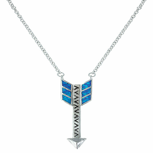Sky Fletched Arrow Necklace By Montana Silversmiths NC3244