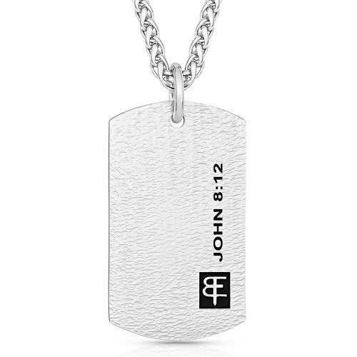I Am the Light Dog Tag Necklace By Montana Silversmiths WCNC4888